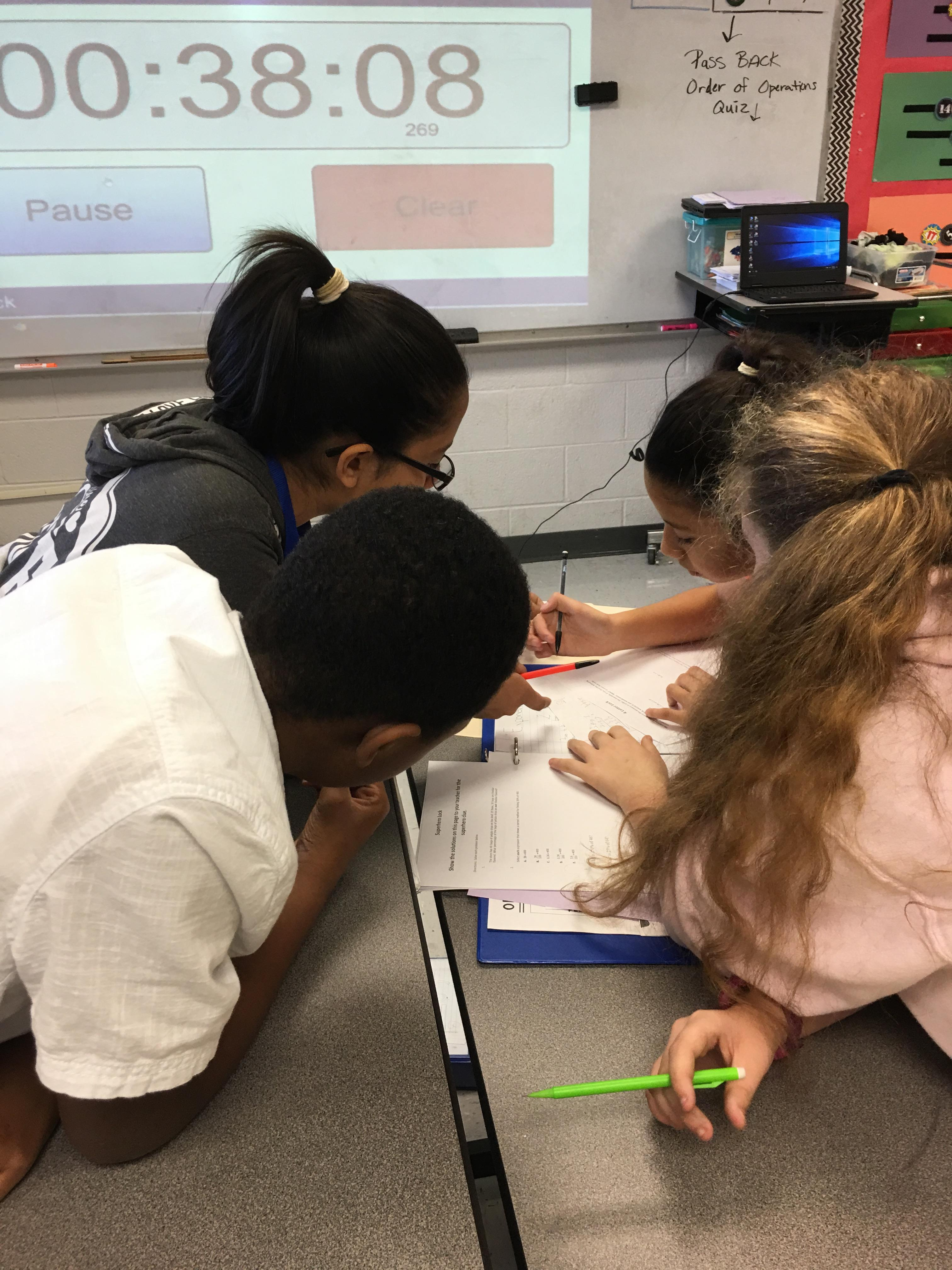6th Grade Math reviews by playing Escape Game