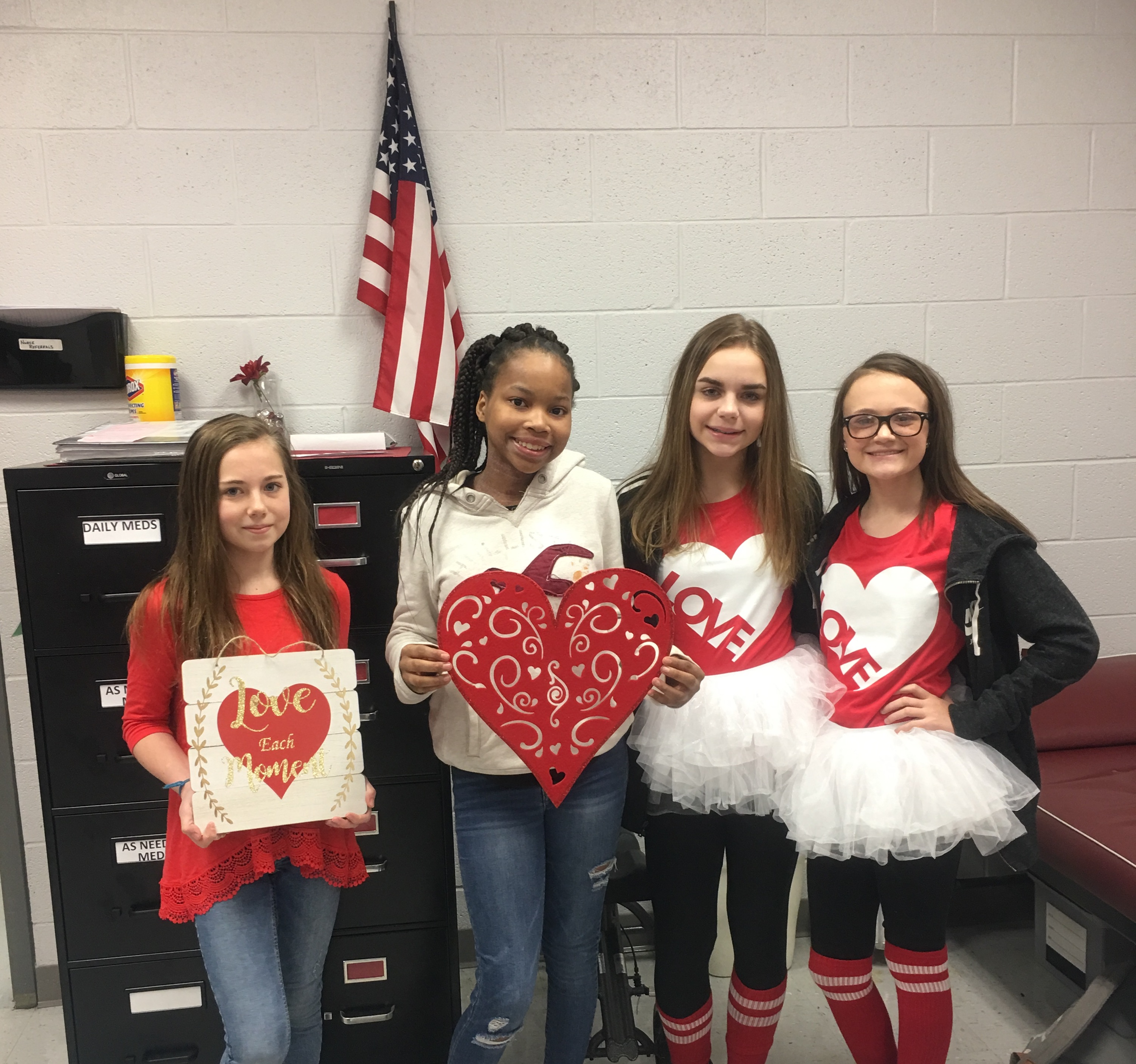 RSMS Student Wear Red to Support Heart Health Awareness. Go Red!!!