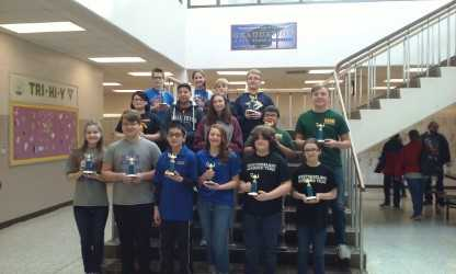 Congratulations Academic Team! Will Doyle, Lucas Bolinger, and Emmaline Conyer for making All-County. Parker Rosenblatt received the award for Most Improved. Way to go! Rucker Team A finished with an impressive undefeated season, 15-0!