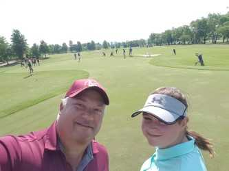 Reagan Padilla represents Rucker at the State Middle School Golf Championship