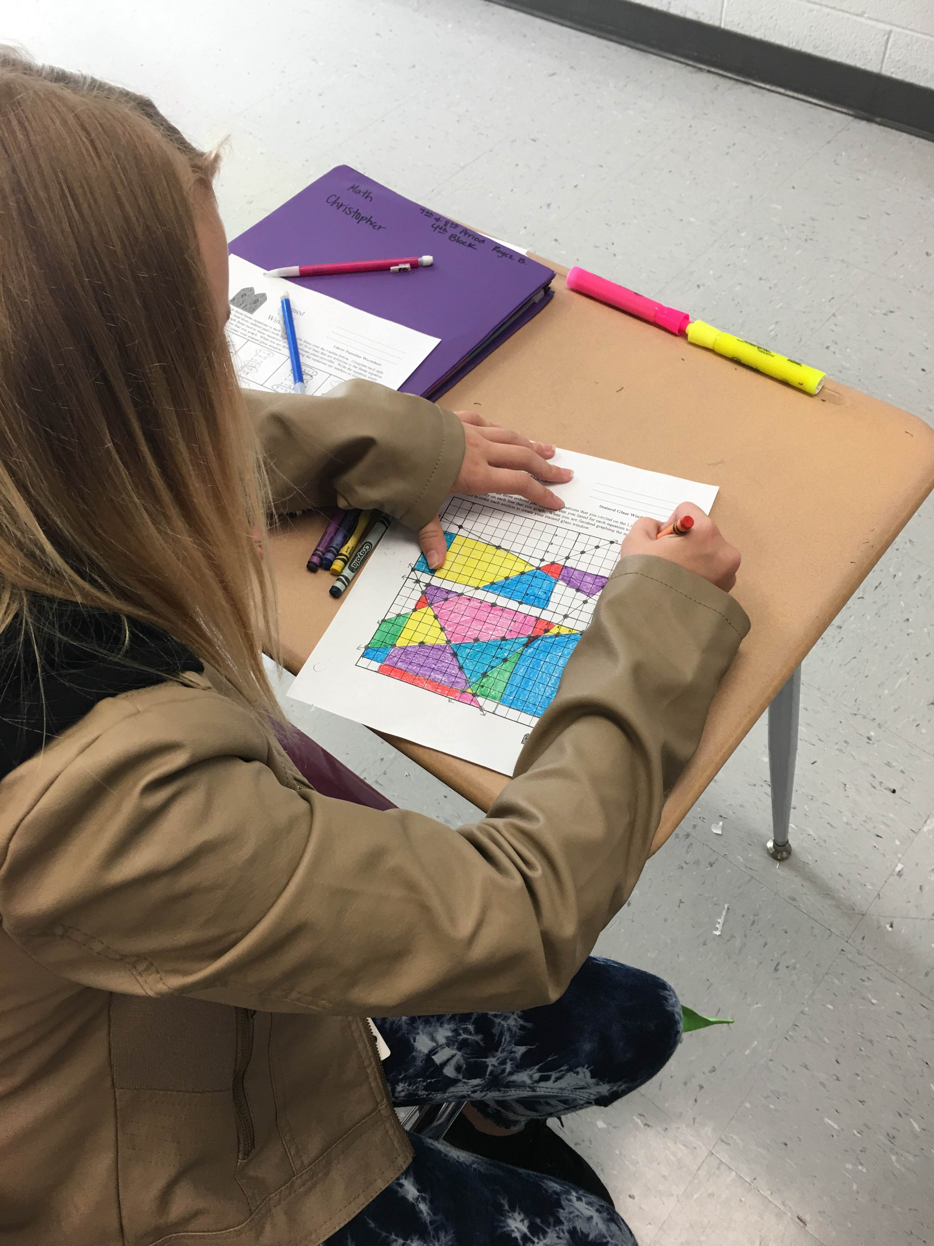 8th grade math creates stained glass windows by graphing functions