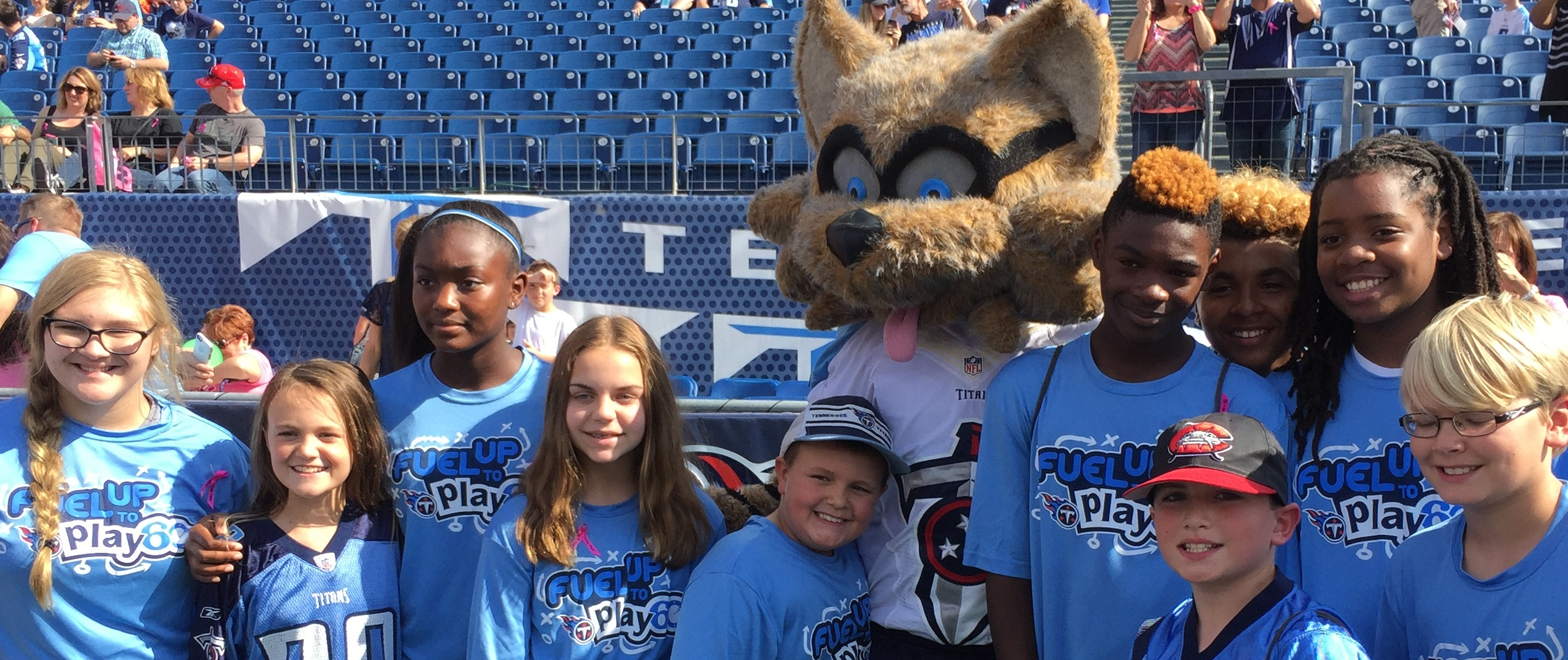 Rucker student attend a Titans game as part of the NFL Play60 program