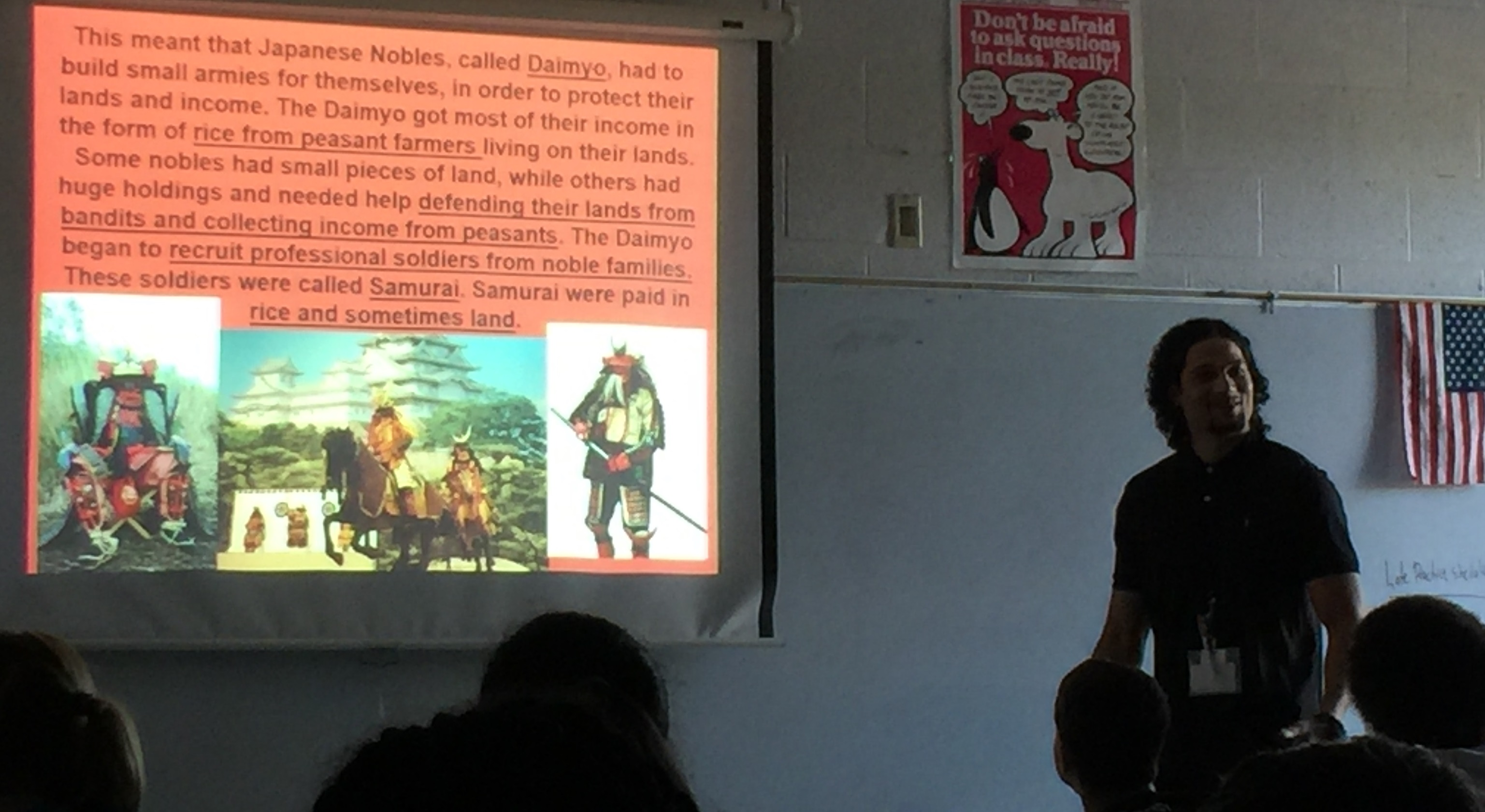 Mr. Simmons discusses the samurai in their study of Japan