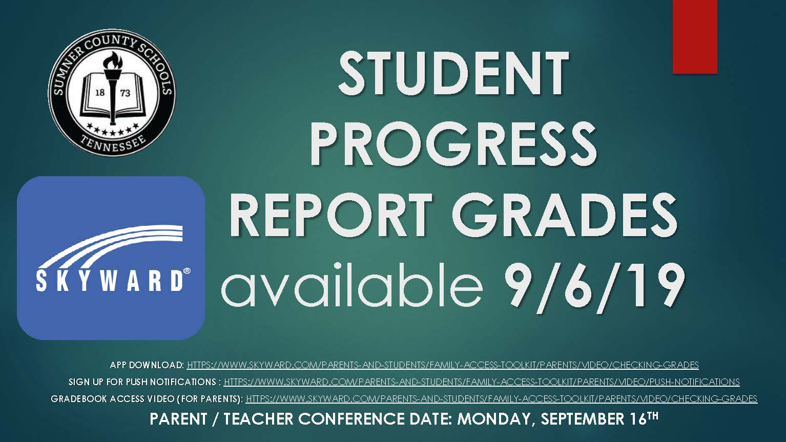 Student Progress Report Card Info 9.6.19