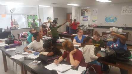 Mr. Helbig's class studies chemical reactions